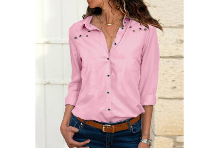 Everyday blouse   Casual blouse voor iedere dag roze