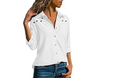 Everyday blouse   Casual blouse voor iedere dag wit