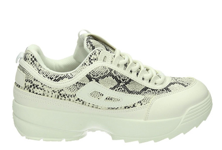 All Day sneakers | Verkrijgbaar in klassiek wit of met gave print #4 Snake/Wit