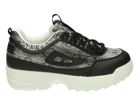 All Day sneakers | Verkrijgbaar in klassiek wit of met gave print #5 Snake/Zwart