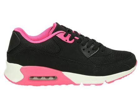 Next Air sneakers   Dames schoenen met ultieme demping en draagcomfort  Zwart/Wit-Roze