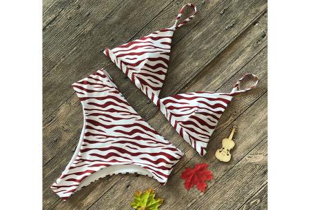 Printed bikini | Een musthave op het strand! Zebra