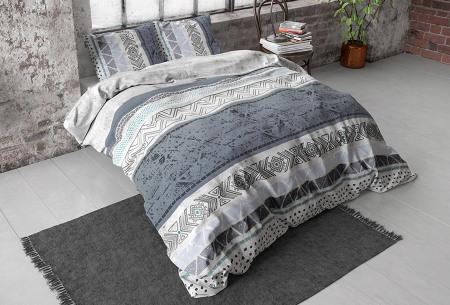 Katoensatijnen dekbedovertrekken van Dreamhouse | In diverse stijlvolle prints dayno grey