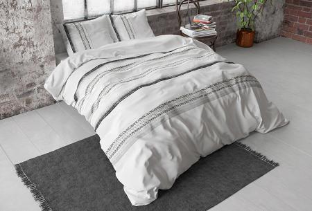 Katoensatijnen dekbedovertrekken van Dreamhouse | In diverse stijlvolle prints jones white