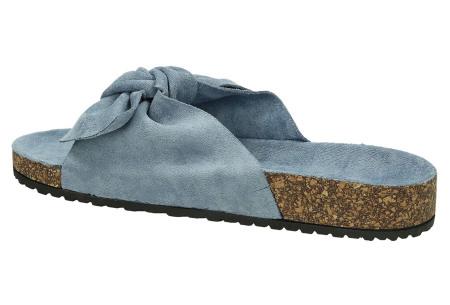 Suède look slippers met strik | Trendy sandalen voor dames met comfortabel voetbed