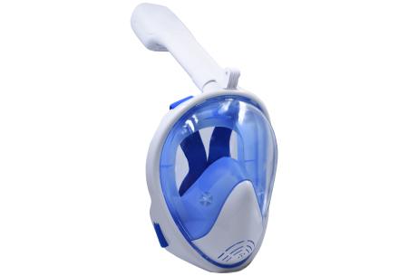 Snorkelmasker met aansluiting voor GoPro | Comfortabel ademen onder water Blauw