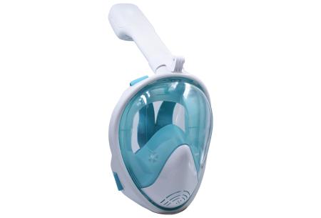 Snorkelmasker met aansluiting voor GoPro | Comfortabel ademen onder water Groen
