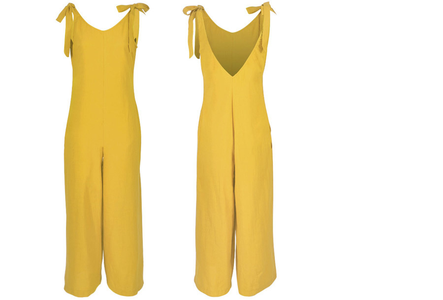 Zomerse jumpsuit - Maat L - Geel