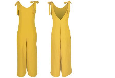 Zomerse jumpsuit   Luchtig, comfortabel & trendy broekpak voor dames geel
