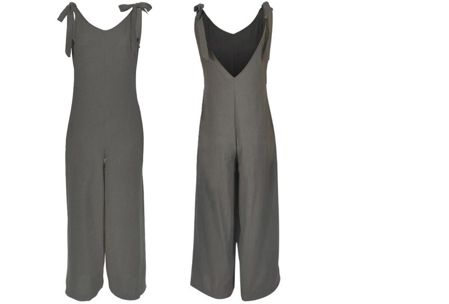 Zomerse jumpsuit - Maat XL - Grijs