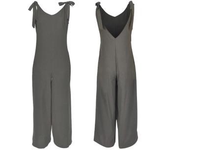 Zomerse jumpsuit   Luchtig, comfortabel & trendy broekpak voor dames grijs