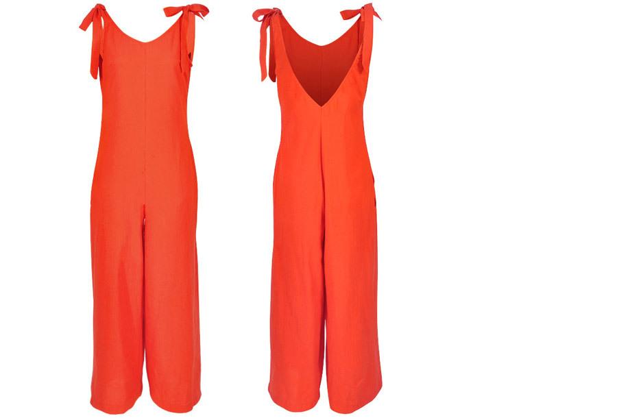 Zomerse jumpsuit - Maat XL - Oranje