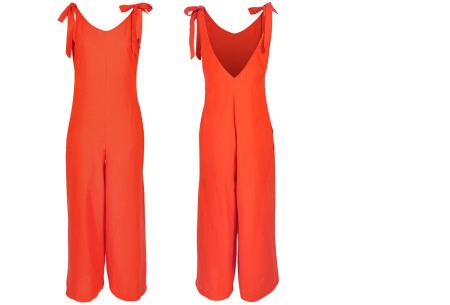 Zomerse jumpsuit   Luchtig, comfortabel & trendy broekpak voor dames oranje