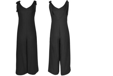 Zomerse jumpsuit   Luchtig, comfortabel & trendy broekpak voor dames zwart