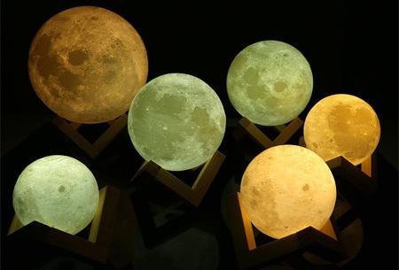 3D Moon lamp, Unieke maanlamp voor een magisch & sfeervol effect!