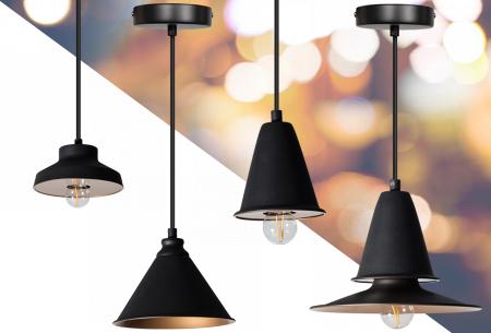 Midnight hanglampen voor een bodemprijs | Keuze uit 4 moderne modellen, OP=OP