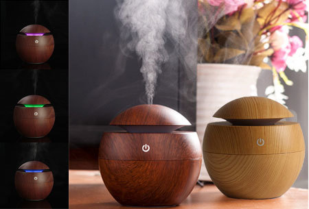 Woodlook aroma geurverspreider,diffuser en luchtbevochtiger | Met of zonder geurolie