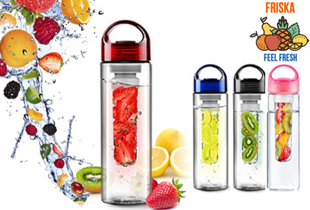 Friska waterfles met fruit filter
