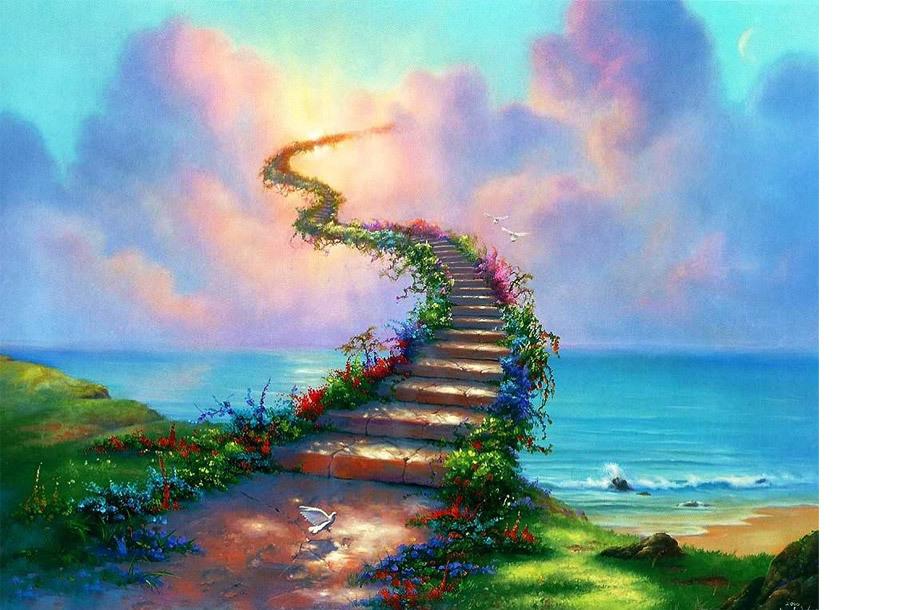 Diamond painting pakket 30 x 40 cm - #4 Stairway to heaven