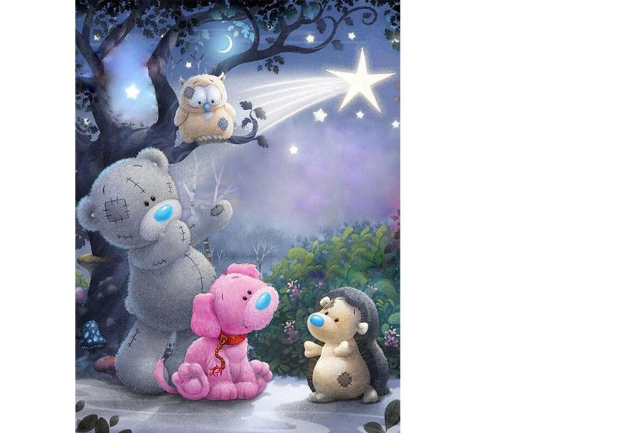 Diamond painting pakket 25 x 30 cm - #6 Teddybeer & vriendjes