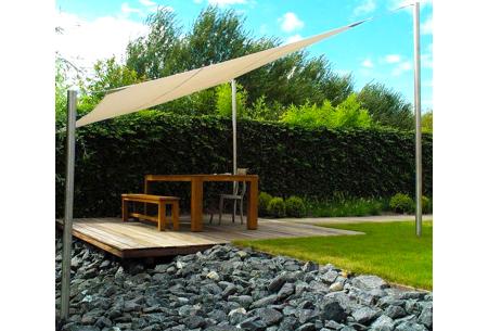 Schaduwdoek - formaat van 3,6 of 5 meter | Creëer een heerlijke schaduwplek in jouw tuin
