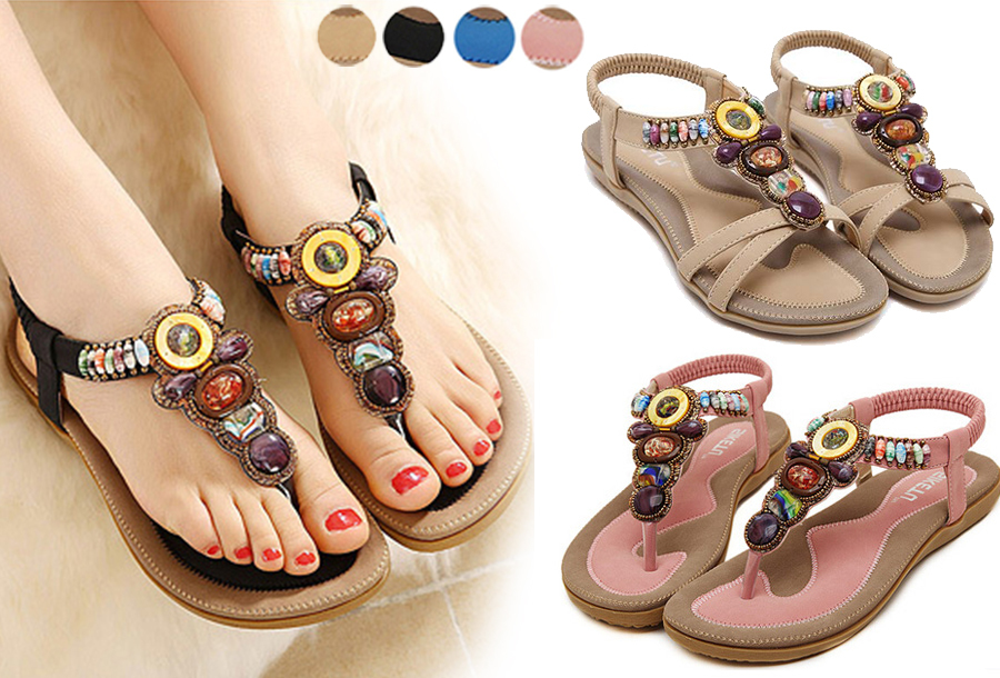 Nu in de sale: bohemian sandalen en teenslippers