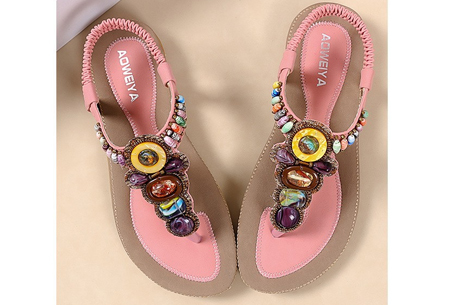 Bohemian slippers | Teenslipper of sandaal met ultra zacht voetbed