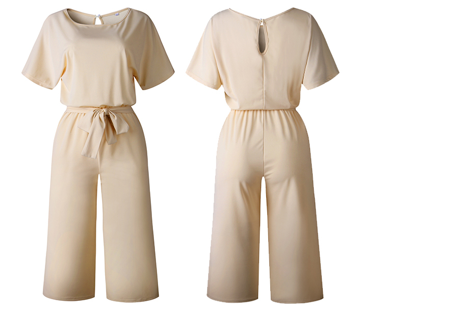 Stylish jumpsuit Maat XL - Beige