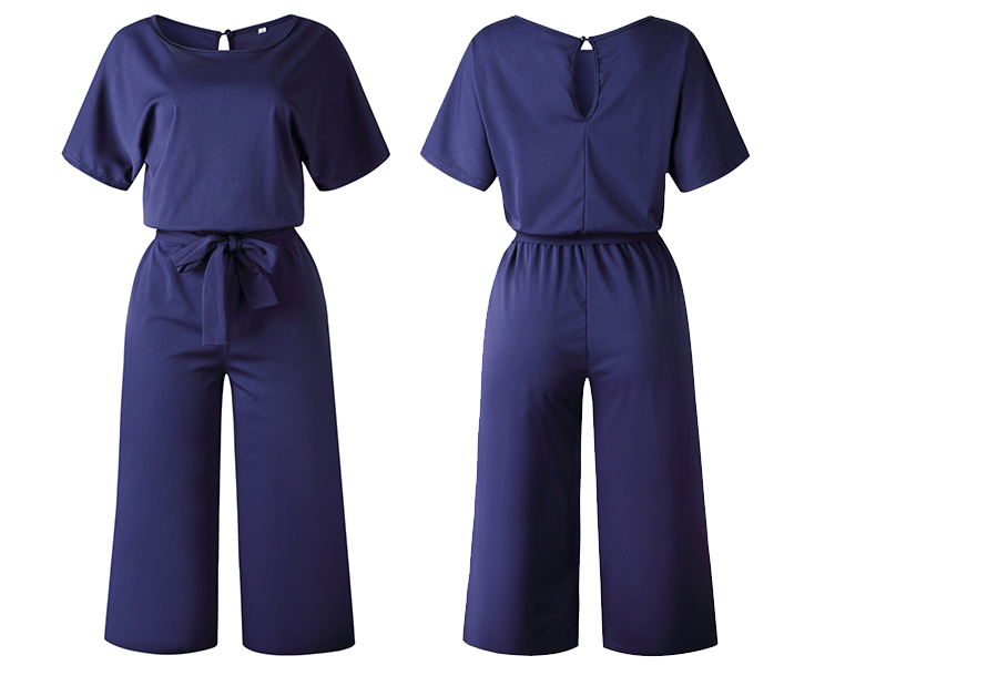 Stylish jumpsuit Maat L - Navy