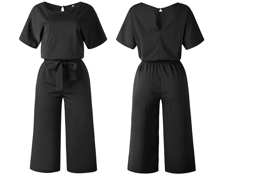 Stylish jumpsuit Maat M - Zwart