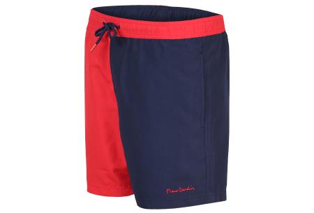 Pierre Cardin multicolor zwembroeken | De nieuwste modellen nu scherp geprijsd! Navy/rood