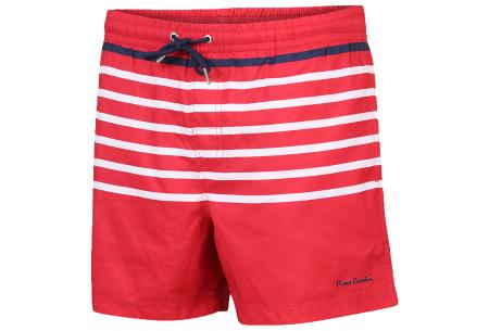 Pierre Cardin multicolor zwembroeken | De nieuwste modellen nu scherp geprijsd! Rood streep