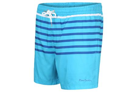 Pierre Cardin multicolor zwembroeken | De nieuwste modellen nu scherp geprijsd! Turquoise streep