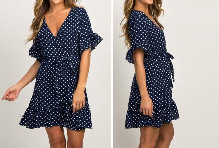 Dots dress | Tijdloze, hippe zomerjurk Navy