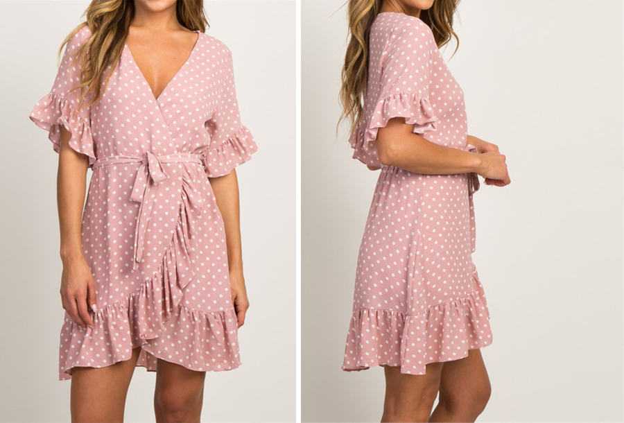 Dots dress - Maat XL - Roze
