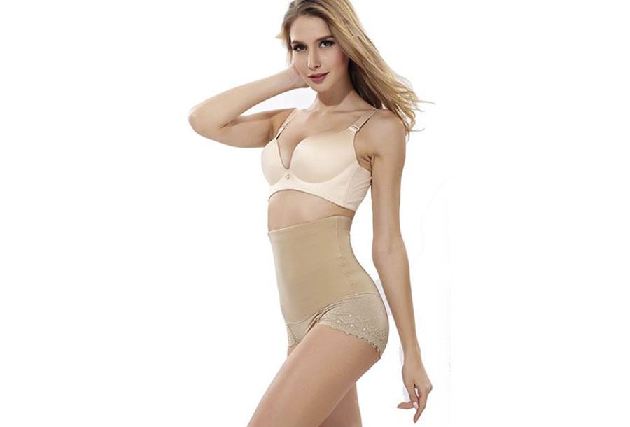 Lace shapewear - Maat 2XL - Beige