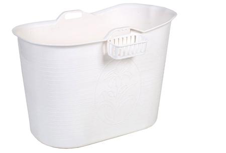 Bath Bucket mobiele badkuip | Plastic zitbad voor volwassenen wit
