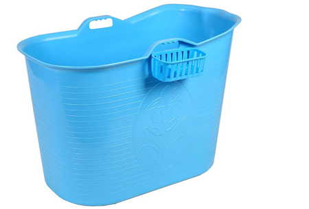 Bath Bucket mobiele badkuip | Plastic zitbad voor volwassenen blauw