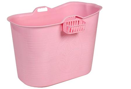 Bath Bucket mobiele badkuip | Plastic zitbad voor volwassenen roze