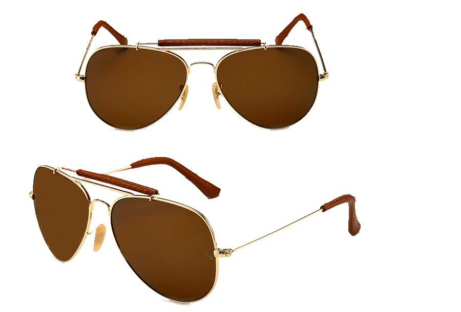 Aviator zonnebril Bruin