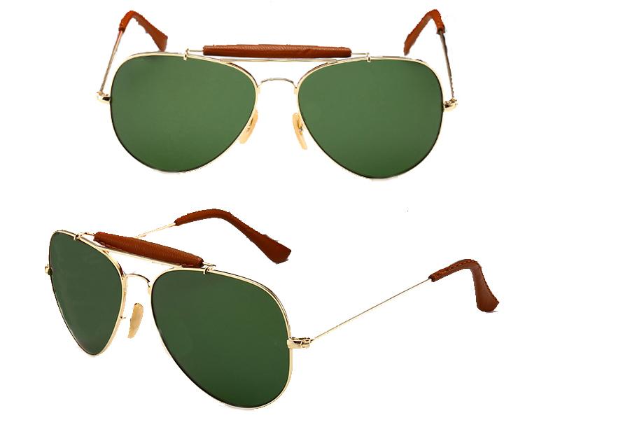 Aviator zonnebril Groen