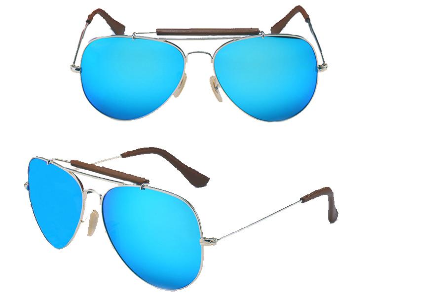 Aviator zonnebril Lichtblauw