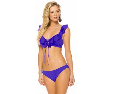 Ruffle bikini   Op 2 manieren te dragen! Paars