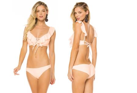 Ruffle bikini   Op 2 manieren te dragen! roze