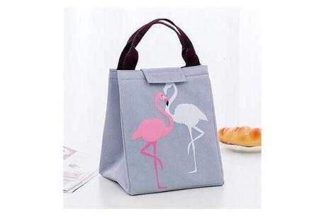 Flamingo koeltas | Altijd overal je eten en drinken gekoeld meenemen grijs