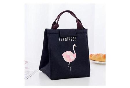 Flamingo koeltas | Altijd overal je eten en drinken gekoeld meenemen zwart