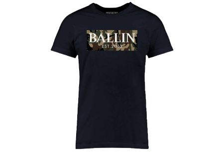 BALLIN Est heren T-shirts | Hippe shirts met diverse prints - hoogwaardige katoenmix Army - navy