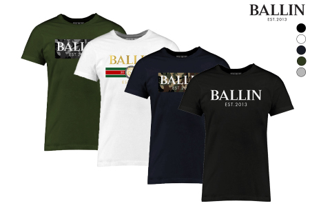 BALLIN Est heren T-shirts in de aanbieding