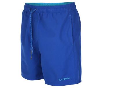 Pierre Cardin zwembroek | Trendy & comfortabele zwemshorts voor heren royal blauw - lichtblauw