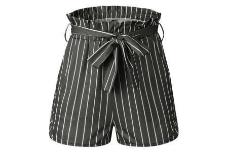 Comfy short | Een soepele, comfortabele broek voor de zomer grijs